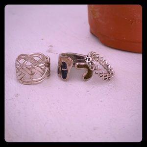 3 Silver Handmade Rings